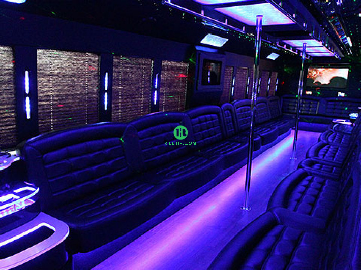 50 Passenger Party Bus Houston