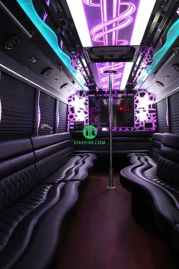 26 Passenger Party Bus Rental Houston