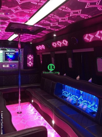 15 Passenger Party Bus Rental Houston